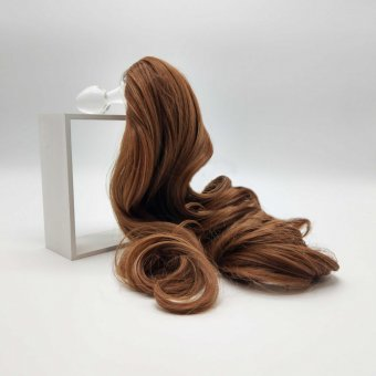 Detachable Faux Pony Tail Plug - Brown