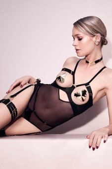 Art Deco Black Ouvert Body