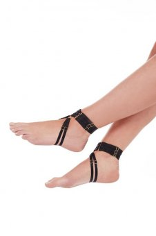 Renee Strap Anklets - Black