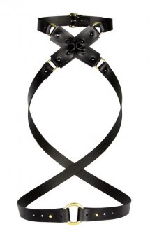 Leather Artefact Cross Harness
