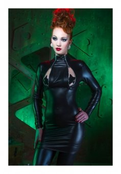Cheryl Black Restrained Dress