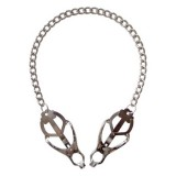 Japanese Butterfly Clover Clamps On Chain