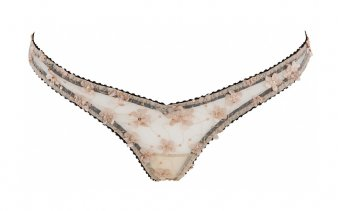 Nymph Floral Core Blush & Black Knicker