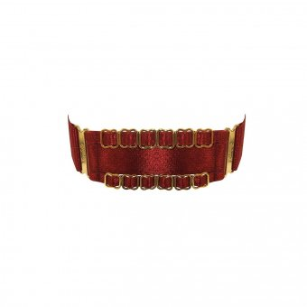 Amaya Branded Strap Collar - Burnt Red