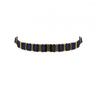 Strap Collar - Navy Blue
