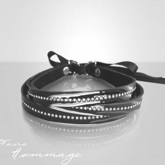 Faire Hommage Leather Collar Trinity