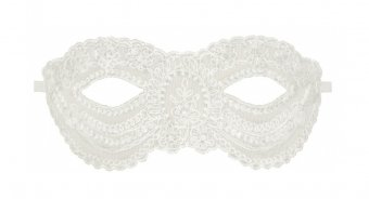Faye Soft Lace Mask - White