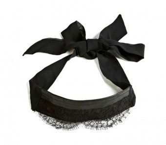 Black Leather/Lace Blindfold