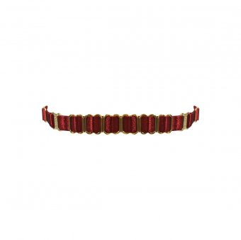 Amaya Strap Collar - Burnt Red