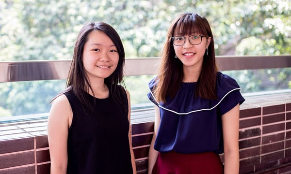Joyce Fung and Jessie Leung are trying to break the taboo surrounding menstruation in Hong Kong. Photograph: Jeremy Smart